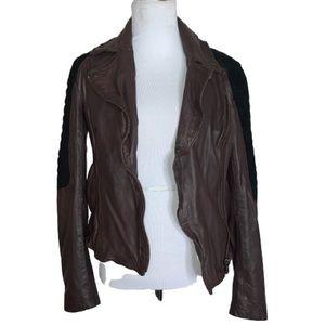 Muubaa Xera Quilted Leather Biker Jacket Size 8
